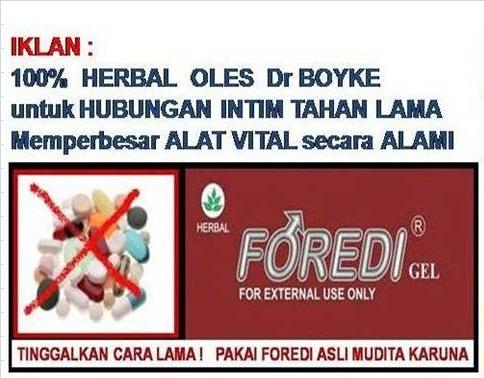 Obat Kuat FOREDI obat tradisional BPOM register Badan Pengawas Obat dan Makanan