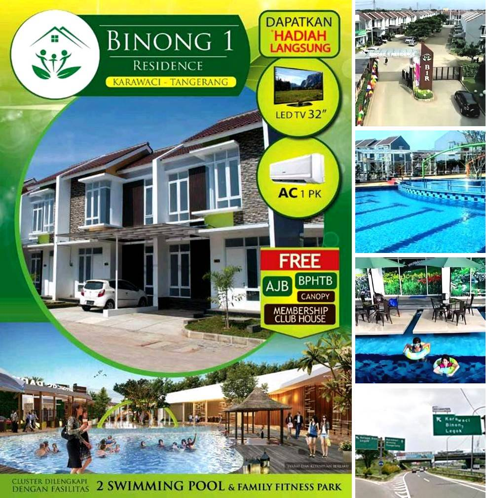 BINONG 1 RESIDENCE rumah dijual di Tangerang